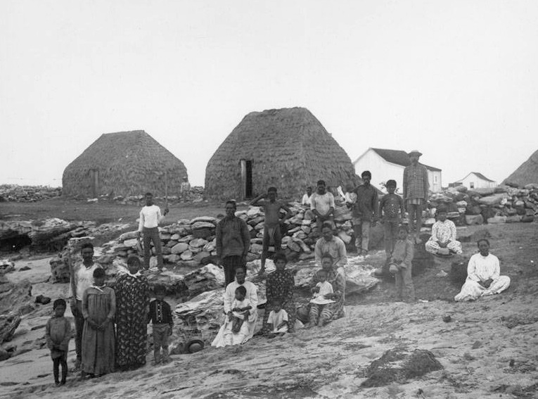 The Sinclair family on Niihau island.