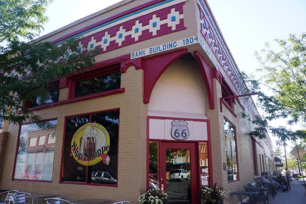 The Sipp Shoppe in downtown Winslow, Arizona.