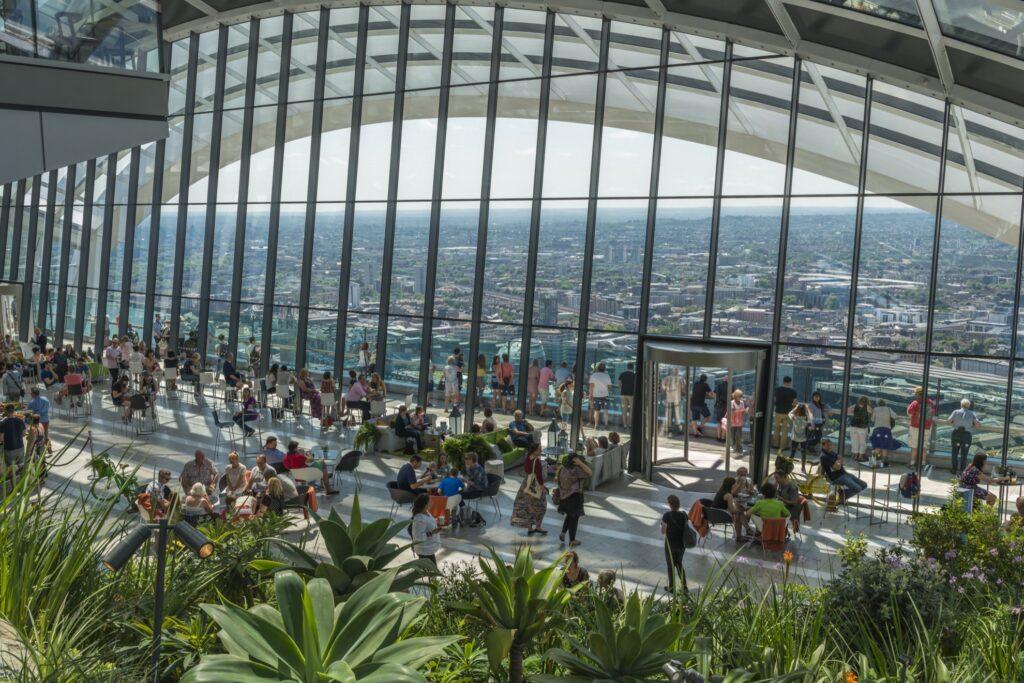 The Sky Garden in London.