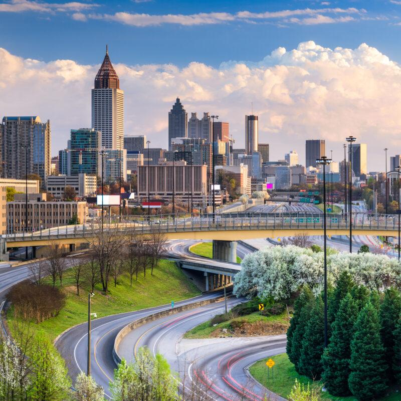 The skyline of Atlanta, Georgia.