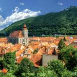 The skyline of Brasov, Romania.