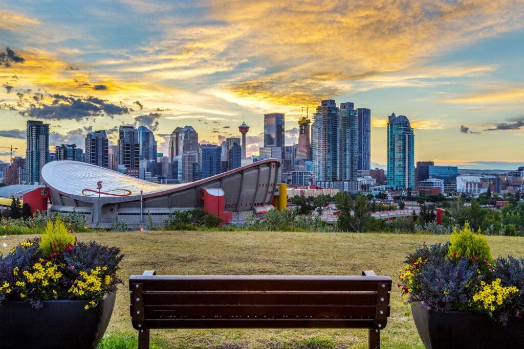 The skyline of Calgary, Alberta.