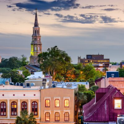 The skyline of Charleston, South Carolina.