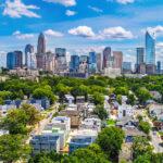 The skyline of Charlotte, North Carolina.