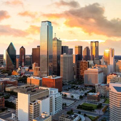 The skyline of Dallas, Texas.