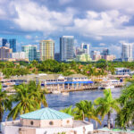 The skyline of Fort Lauderdale, Florida.