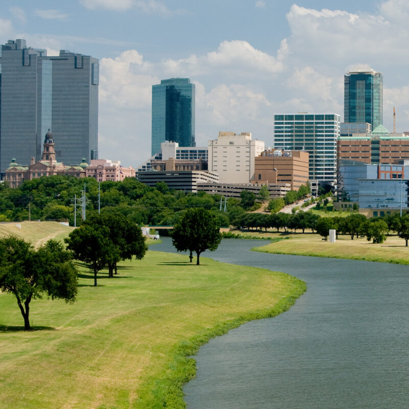 The skyline of Fort Worth, Texas.