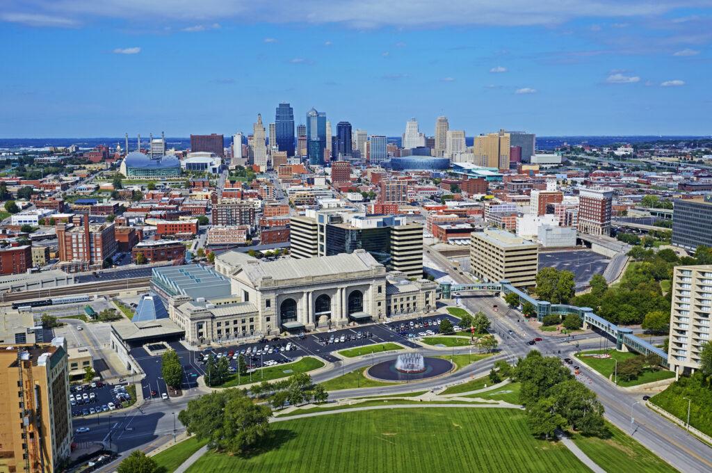 The skyline of Kansas City.