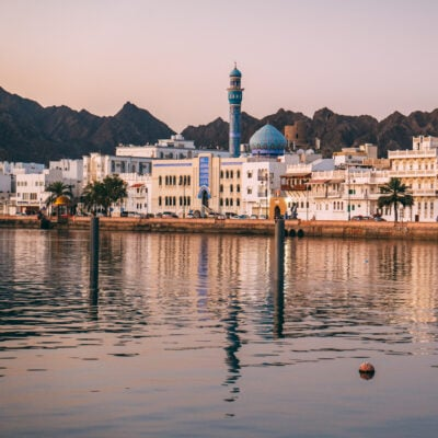 The skyline of Muscat, Oman.