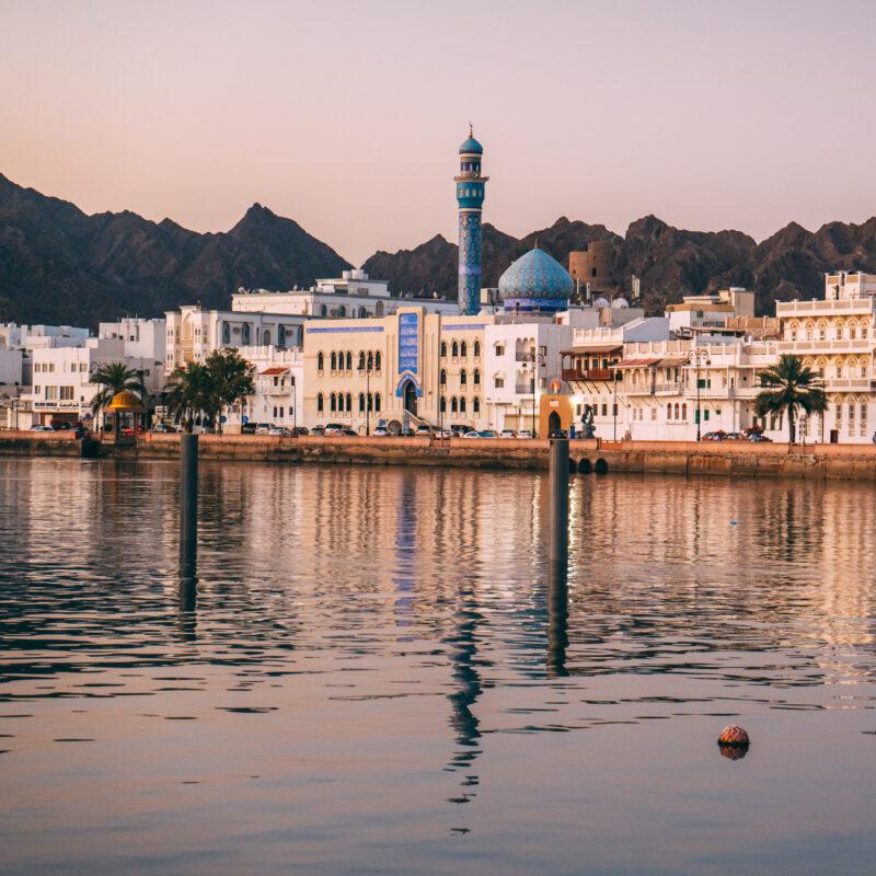 The skyline of Muscat, Oman.
