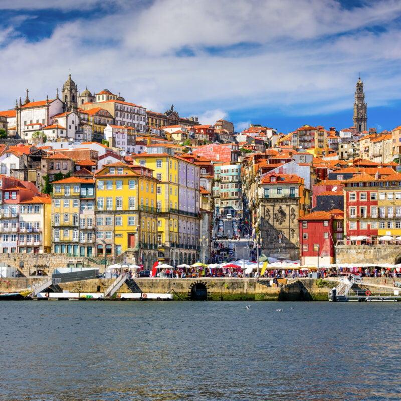 The skyline of Porto, Portugal.
