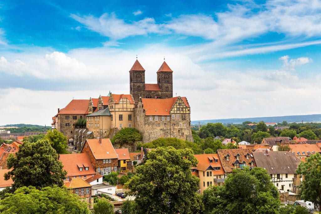 The skyline of Quedlinburg, Germany.