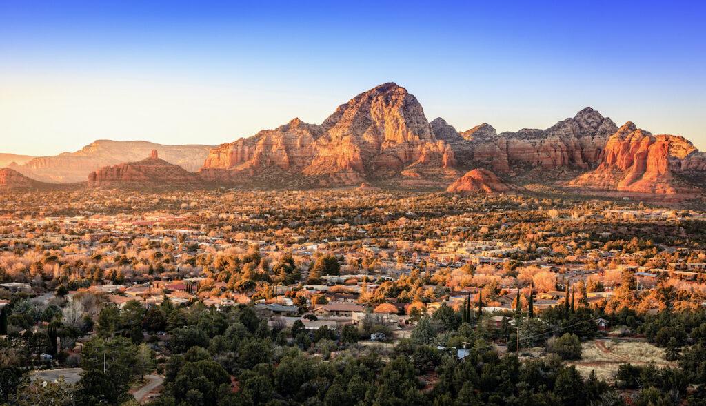 The skyline of Sedona, Arizona.