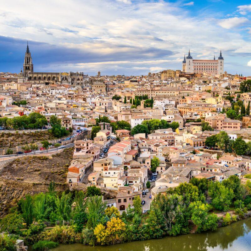 The skyline of Toledo, Spain.