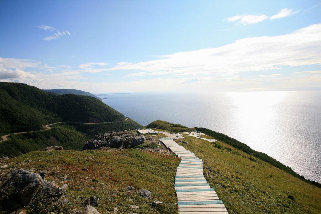The skyline trail at Cape Breton Highlands National Park.