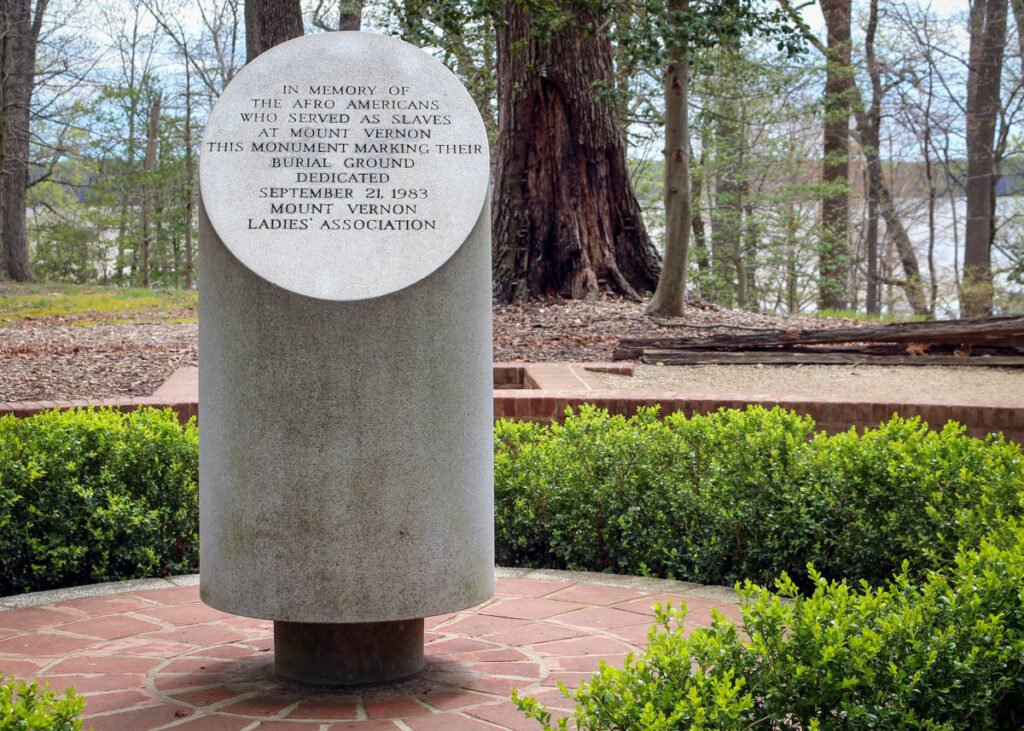 The slave memorial at Mount Vernon.