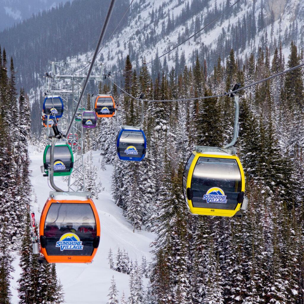 The slopes at Banff Sunshine Village in Alberta, Canada.