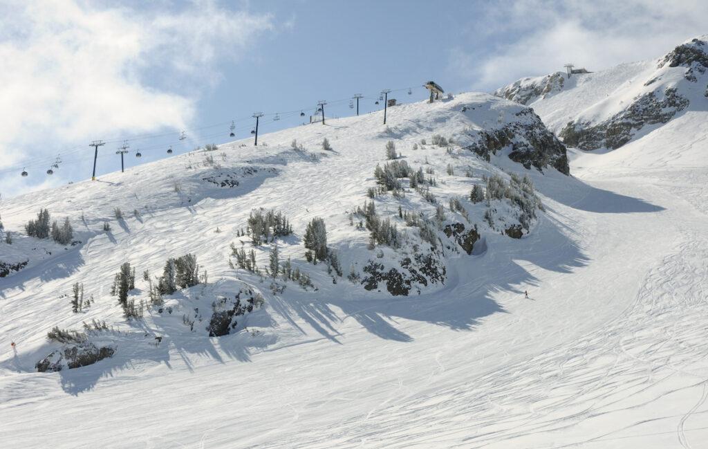 The slopes at Mammoth Lakes in California.