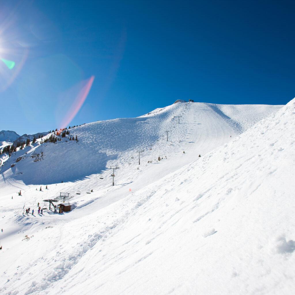 The slopes at Telluride Ski Resort in Colorado.