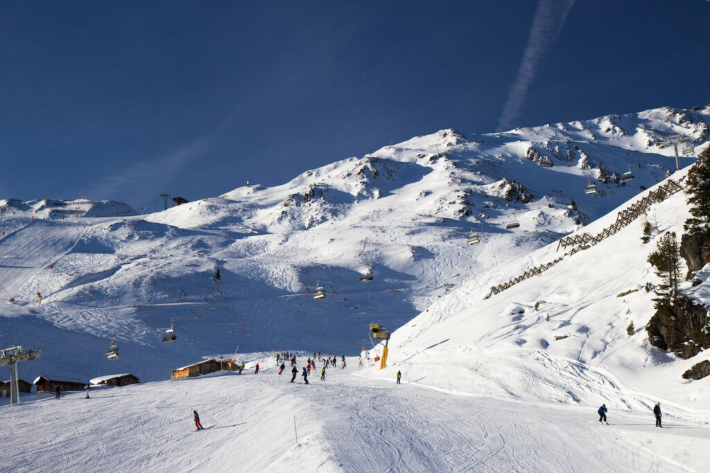 The slops in Kaltenbach, Austria.