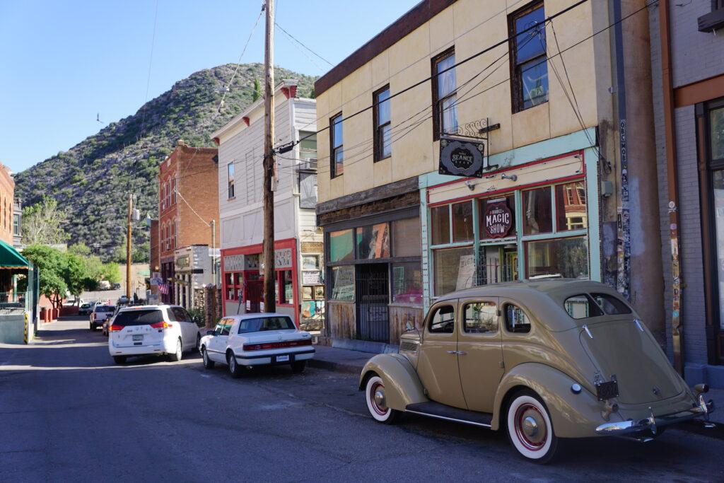 The sma,l Arizona town of Bisbee.