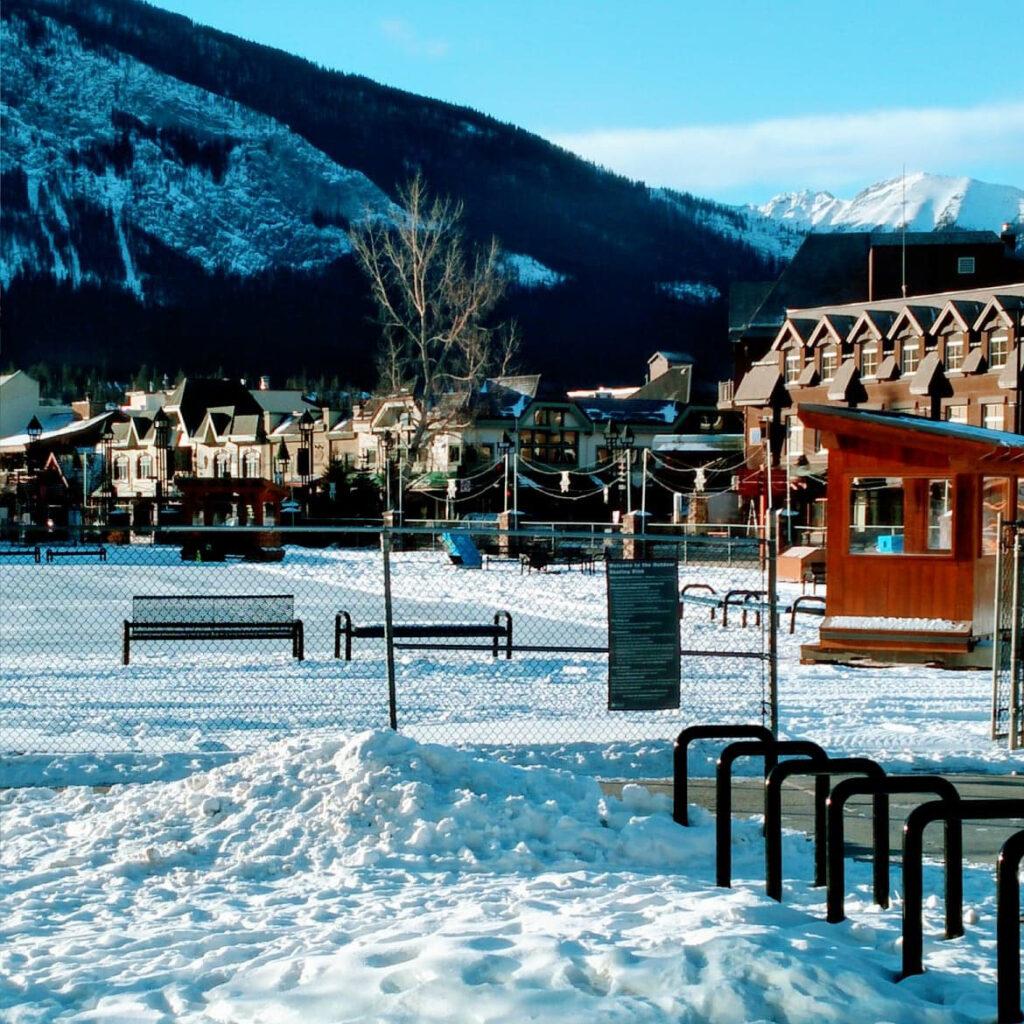 The Snow Days Ice Rink at Banff High School.