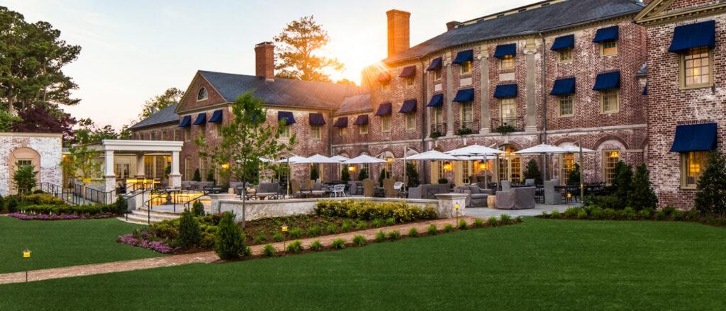 The Social Terrace at Williamsburg Inn.