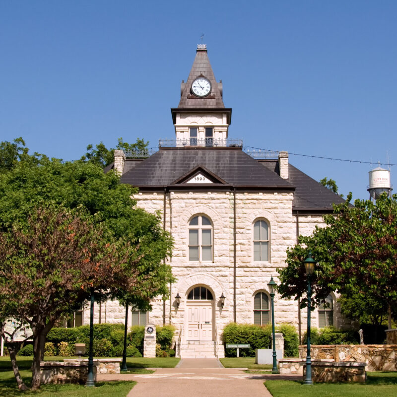 The Somervell County Courthouse in Glen Rose, Texas.