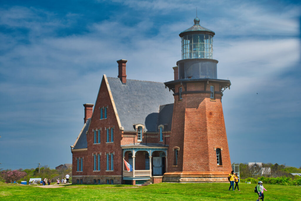 The South East Lighthouse in New Shoreham, Rhode Island.