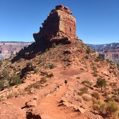 The South Kaibab Trail at the Grand Canyon.
