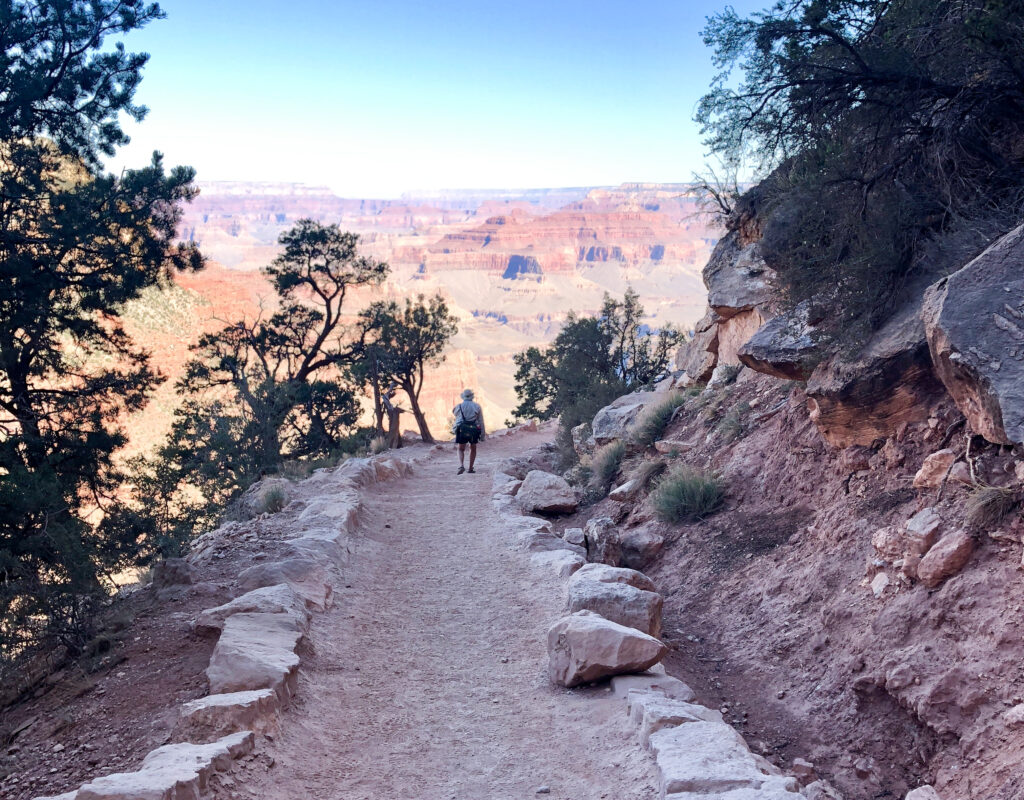 The South Kaibab Trail in the Grand Canyon.