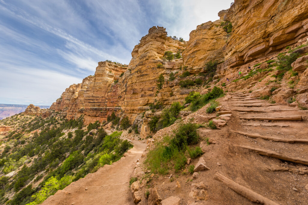 The South Kaibab Trail on the South Rim.