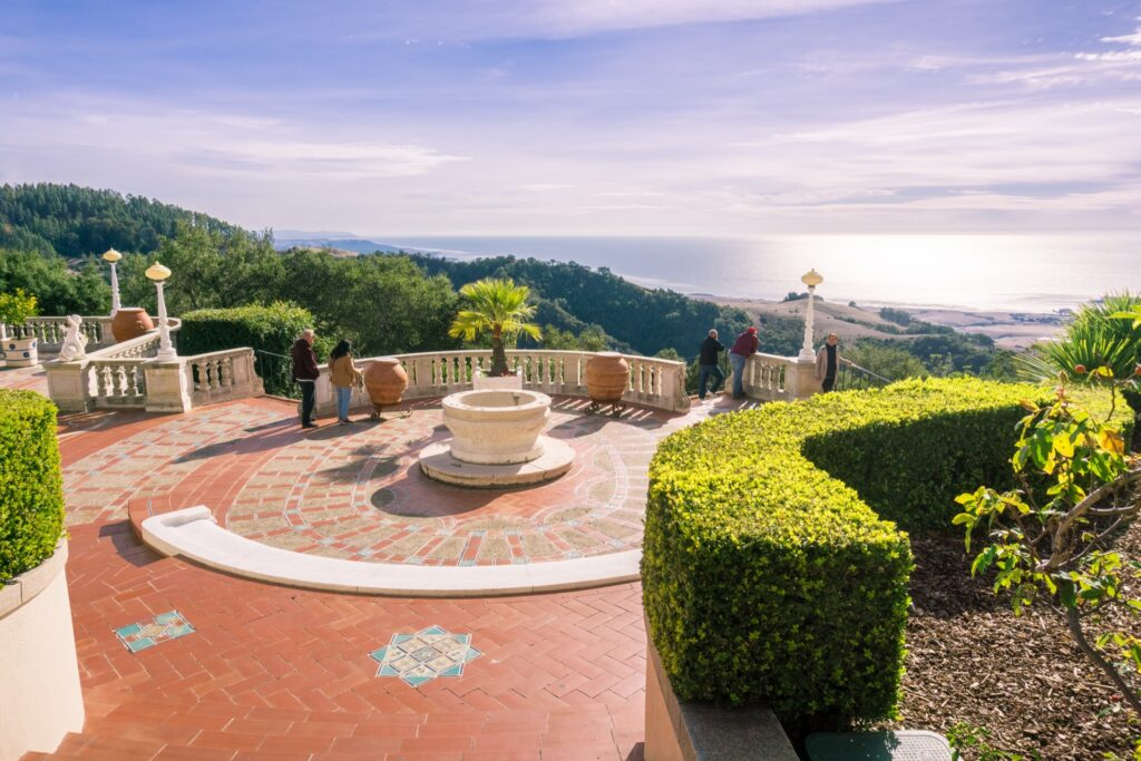 The South Terrace of Hearst Castle.