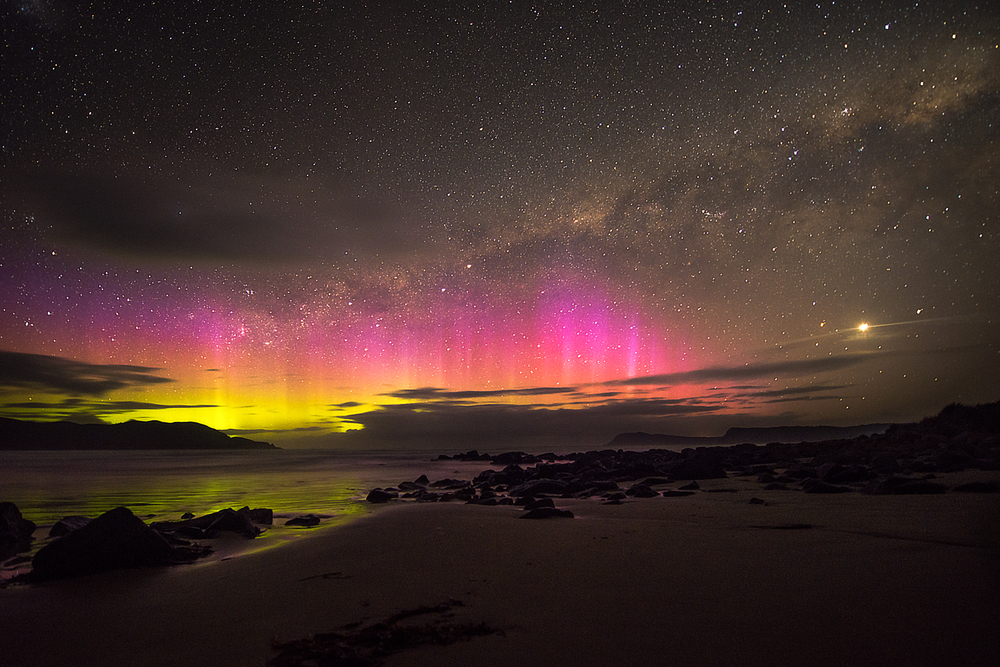 The southern lights from Tasmania.