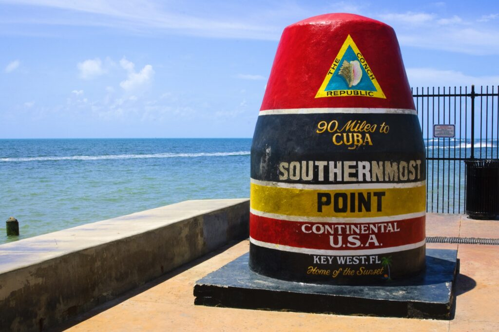 The Southernmost Point in Key West.