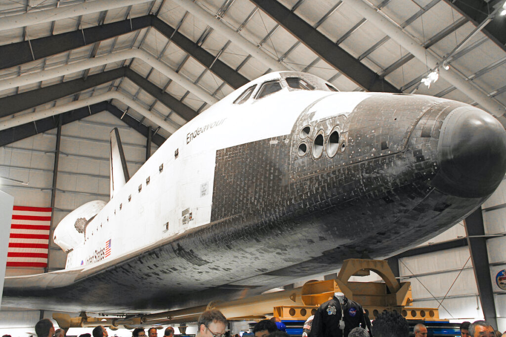 The space shuttle Endeavor at the California Science Center.