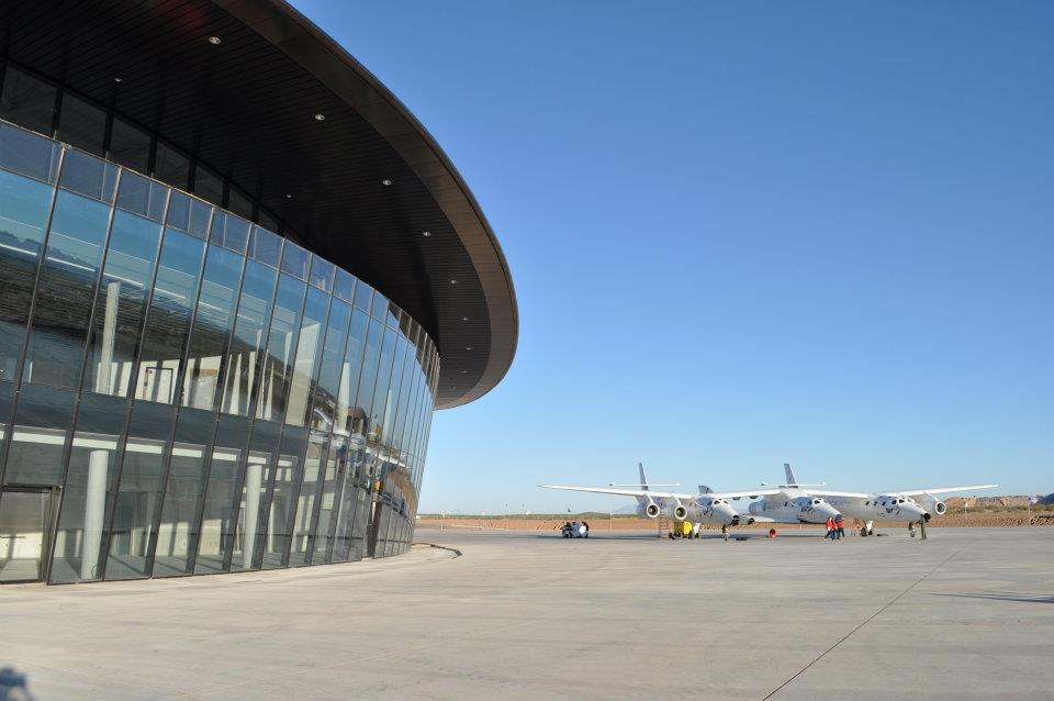 The Spaceport America Visitor Center in New Mexico.