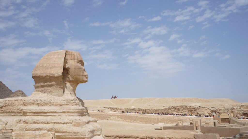 The Sphinx in Egypt.