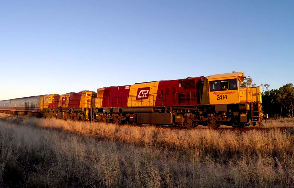 The Spirit of the Outback train in Australia.
