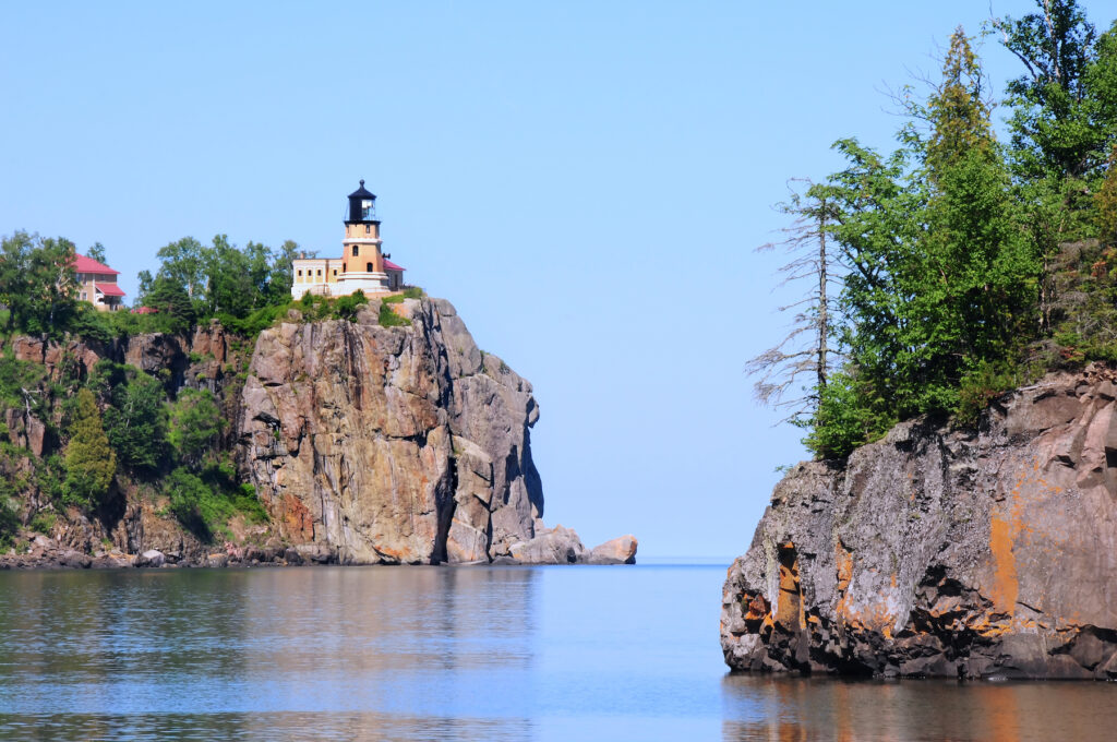 The Split Rock Lighthouse along the North Shore Scenic Drive.