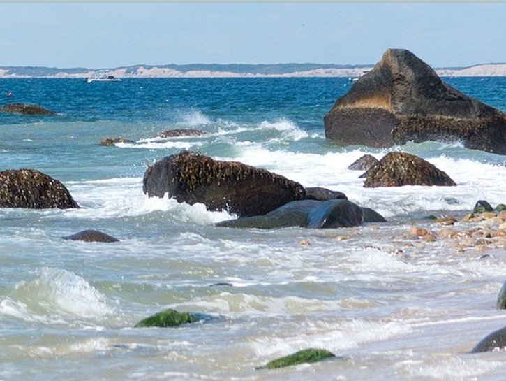 The spray of of the surf, Martha's Vineyard.