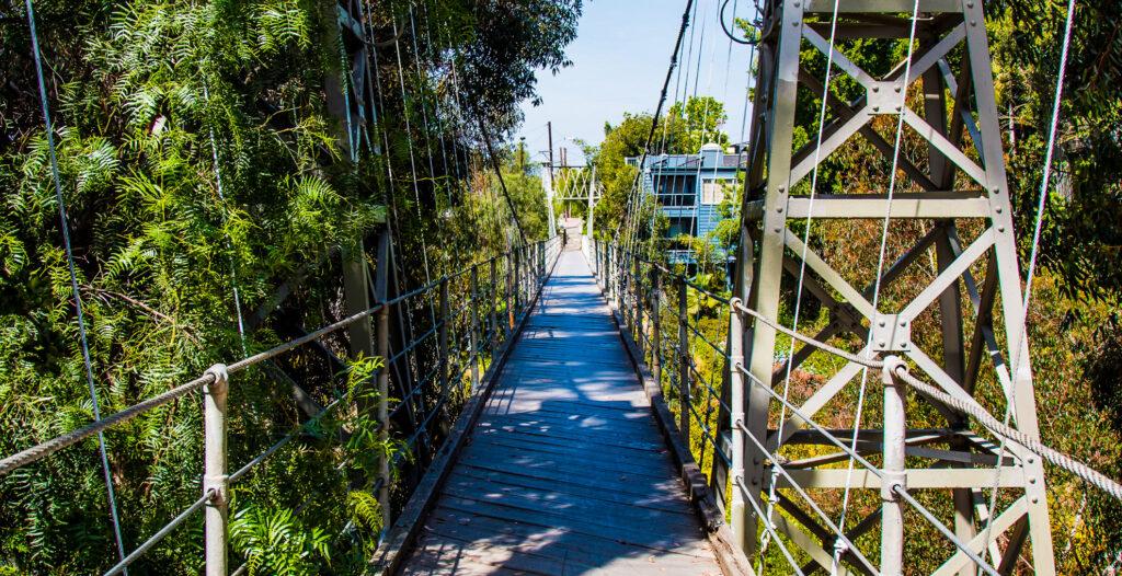The Spruce Street Suspension Bridge in San Diego
