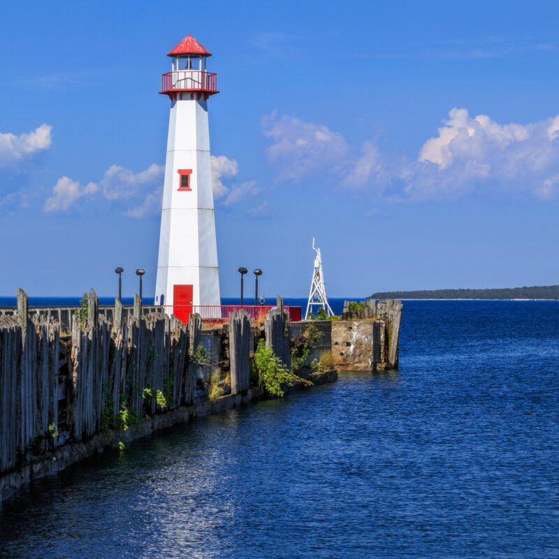 The St. Ignace Lighthouse in Michigan.