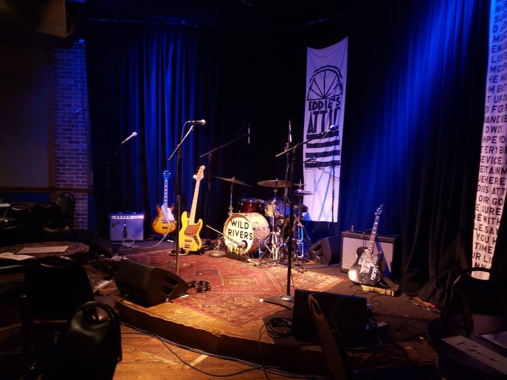 The stage at Eddie's Attic.
