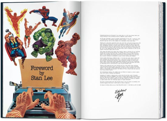 The Stan Lee Story book open to foreword