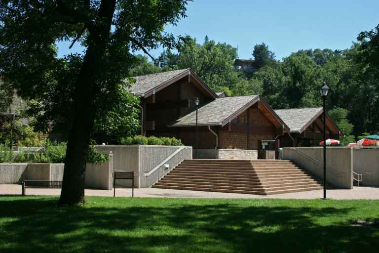 The Starved Rock Visitor Center in Illinois.