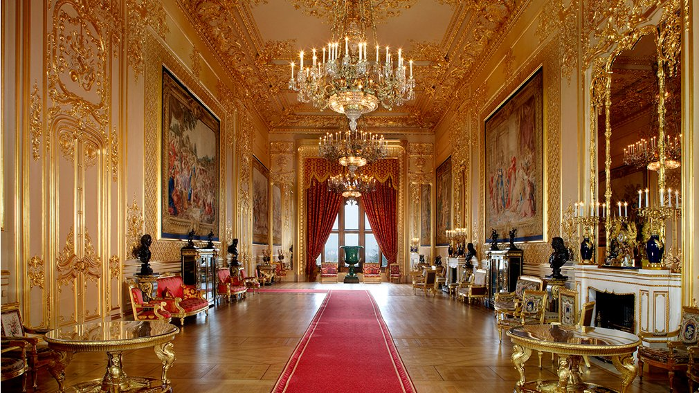 The State Apartments at Windsor Castle.