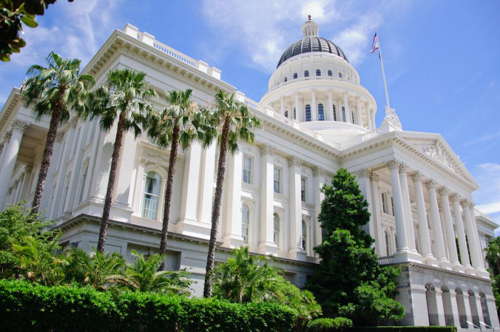 The State Capitol Building in Sacramento, California.