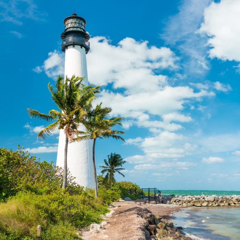 The State Florida Lighthouse in Key Biscayne, Florida.