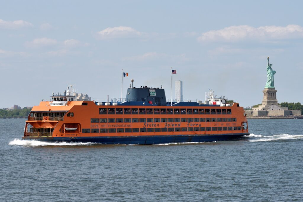 The Staten Island ferry in New York City.